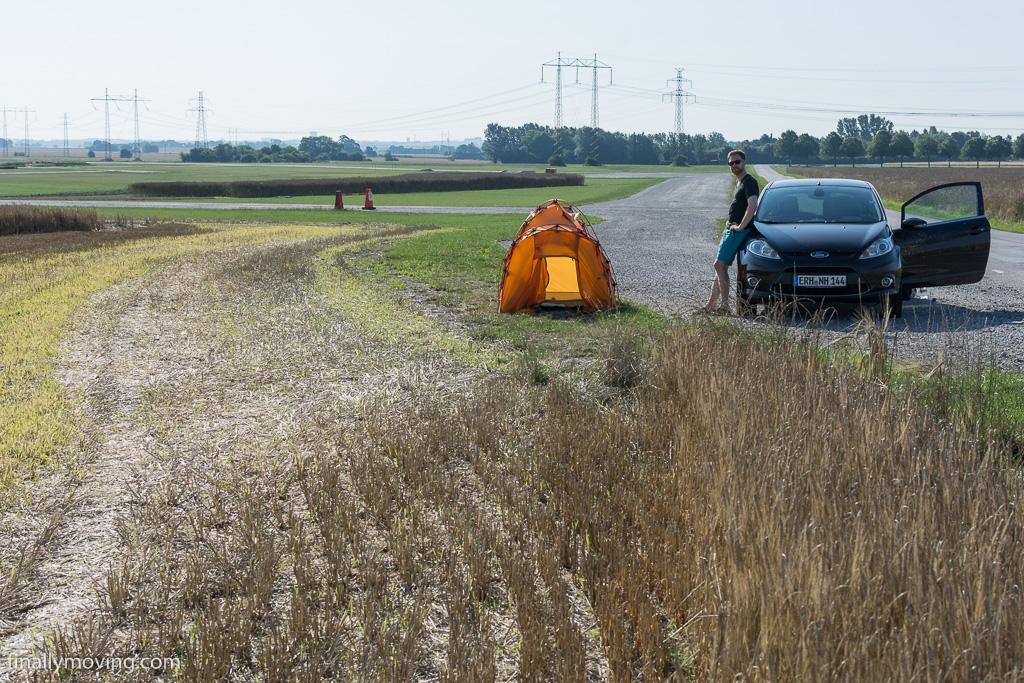 roadside camping in Sweden