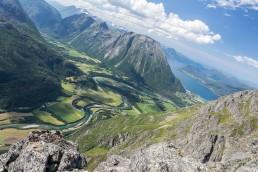 View from Romsdalseggen ridge