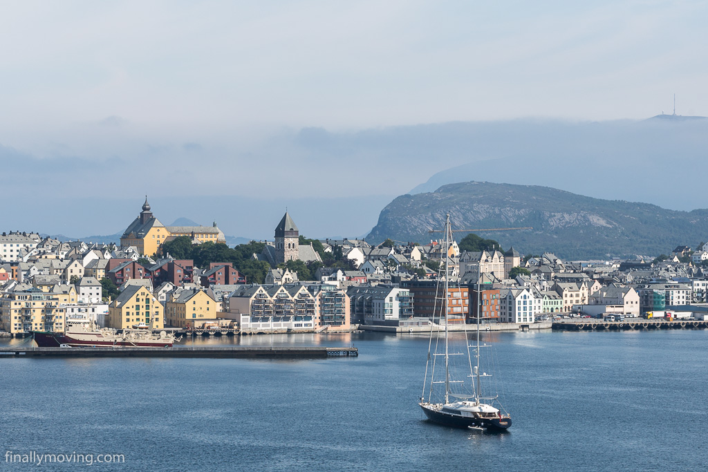View of Ålesund city center
