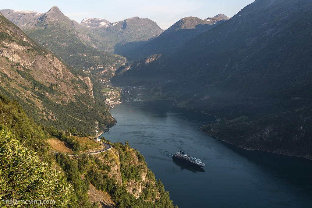 View down to Geiranger