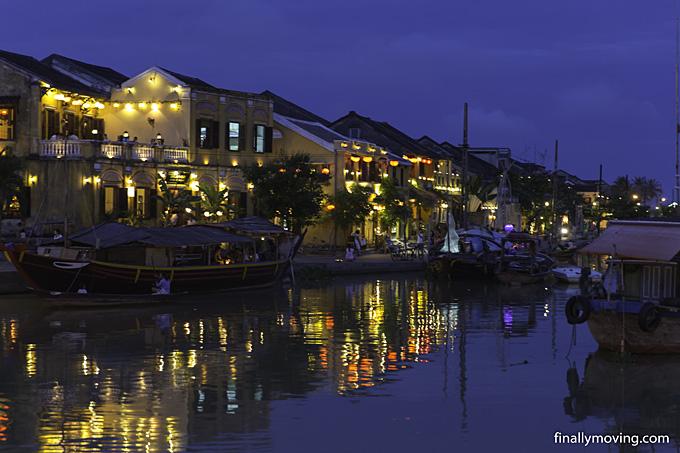Hoi An old town lanterns at night