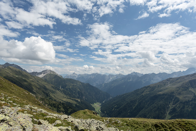 View down the Oberbergtal