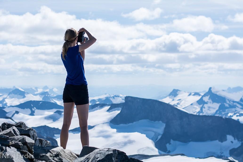 Me taking pictures of Jotunheimen peaks
